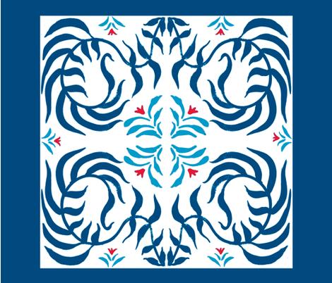 twist_leaf_four fabric by wednesdaysgirl on Spoonflower - custom fabric