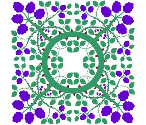 Blackberry Bramble fabric by veritybrown on Spoonflower - custom fabric