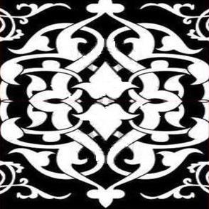 hawaiin quilt floral pattern