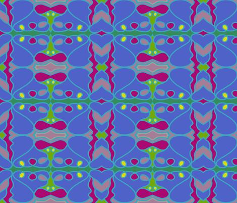Vineyard Trellis fabric by paula_ogier_artworks on Spoonflower - custom fabric