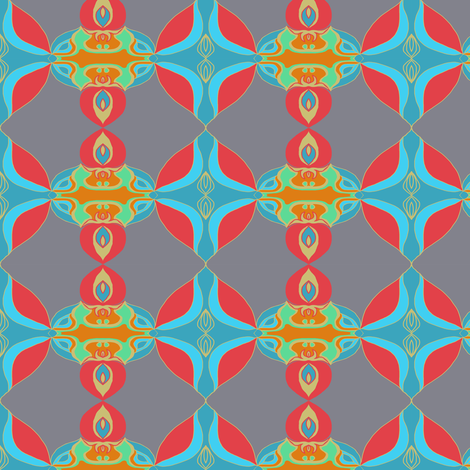 Ornamental Deco fabric by paula_ogier_artworks on Spoonflower - custom fabric