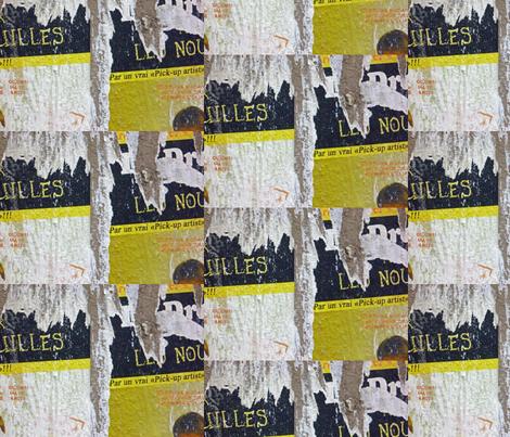 Torn Poster. Paris fabric by susaninparis on Spoonflower - custom fabric
