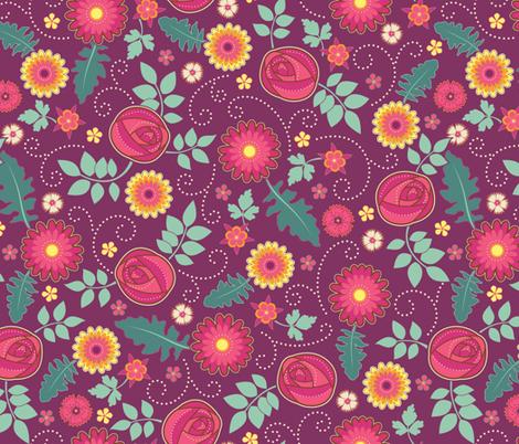 June Birthday fabric by jennartdesigns on Spoonflower - custom fabric