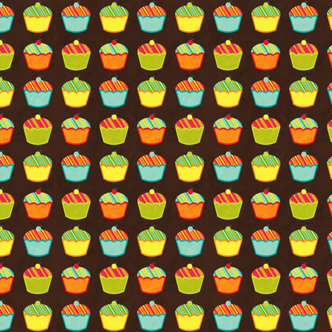 Cupcake Stripe (small) fabric by jennartdesigns on Spoonflower - custom fabric
