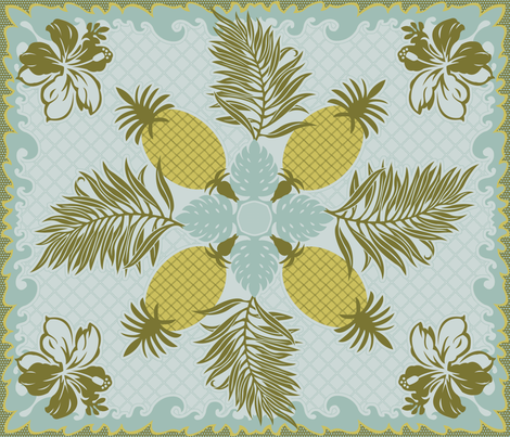 leilani quilt fabric by littlerhodydesign on Spoonflower - custom fabric