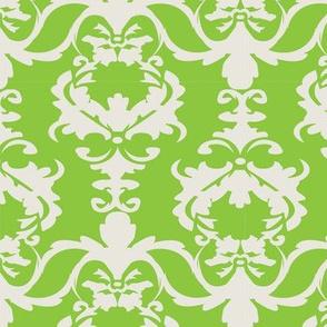 PATIO DAMASK green