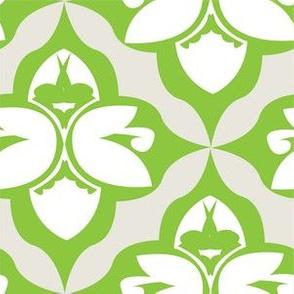 GARDEN DAMASK green