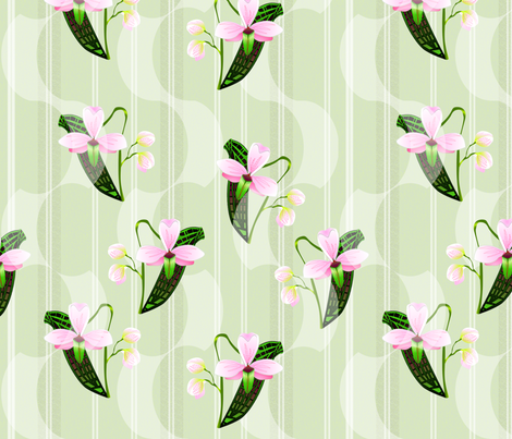 ©2011 orchids fabric by glimmericks on Spoonflower - custom fabric