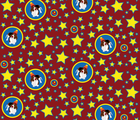 Wilbur's Circus (Red) fabric by robyriker on Spoonflower - custom fabric