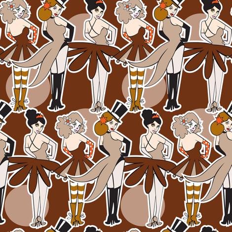 Sepia Circus fabric by tessiegirldesigns on Spoonflower - custom fabric
