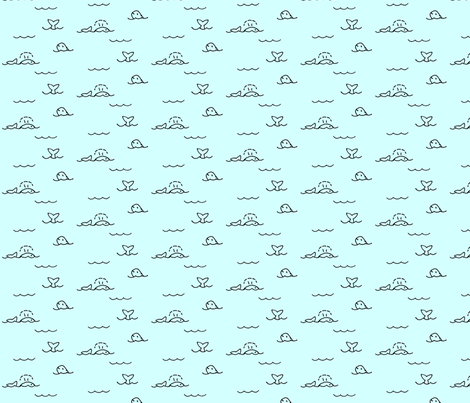 Whales fabric by fabricbycatherine on Spoonflower - custom fabric