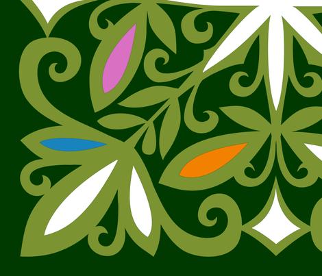 Butterleaf Dark_six colour fabric by spellstone on Spoonflower - custom fabric