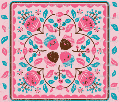 Hawaiian quilt with autumn spirit
