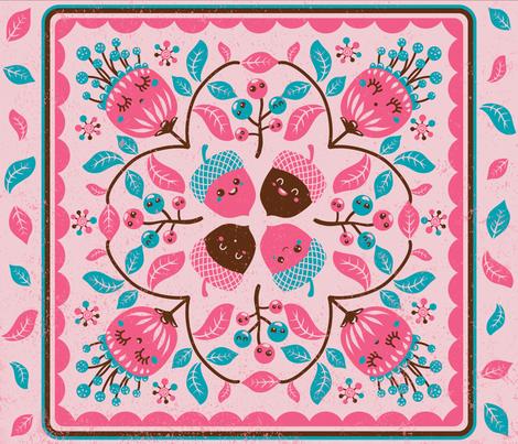 Hawaiian quilt with autumn spirit fabric by irrimiri on Spoonflower - custom fabric