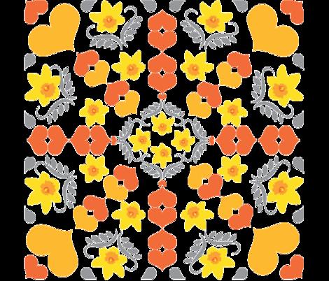 Daffodil Dreaming fabric by nerida_jeannie on Spoonflower - custom fabric