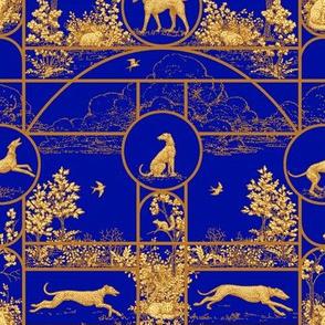 Autumn Blue, Greyhound Toile