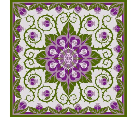 Deadly Nightshade Hawaiian Quilt fabric by ceanirminger on Spoonflower - custom fabric