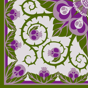 Deadly Nightshade Hawaiian Quilt