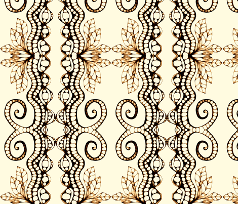 horns fabric by chelmers on Spoonflower - custom fabric