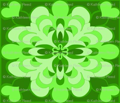 Green Hawaii Fleur De Lis