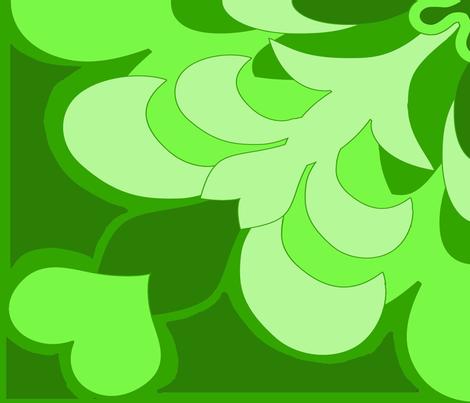 Green Hawaii Fleur De Lis fabric by dogdaze_ on Spoonflower - custom fabric