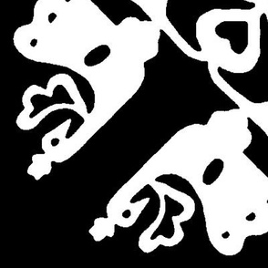 Peacock in love hawaiian quilt black-white medium