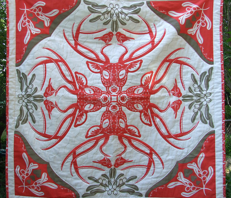 Christmas Time Hawaiian Quilt