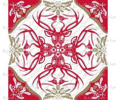 Christmas Time Hawaiian Quilt
