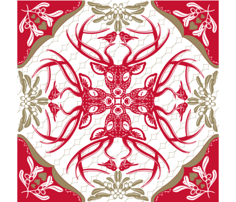 Christmas Time Hawaiian Quilt fabric by cjldesigns on Spoonflower - custom fabric