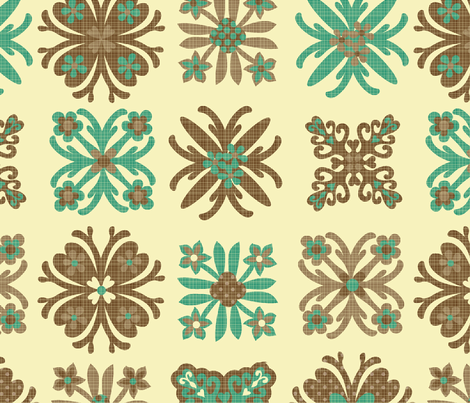 Hawaiin quilt fabric by collectivesurfacellc on Spoonflower - custom fabric
