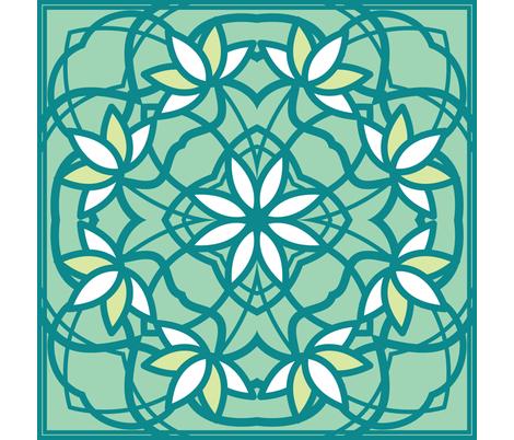 Lotus Hawaiian Quilt fabric by jillianmorris on Spoonflower - custom fabric