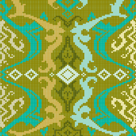 Brocade S-FF-301B2 fabric by modernprintcraft on Spoonflower - custom fabric