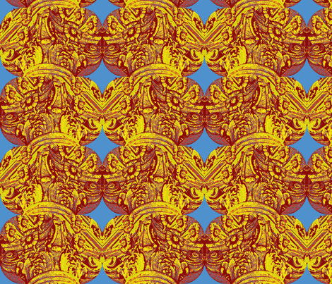Stacks of Golden Columns fabric by robin_rice on Spoonflower - custom fabric