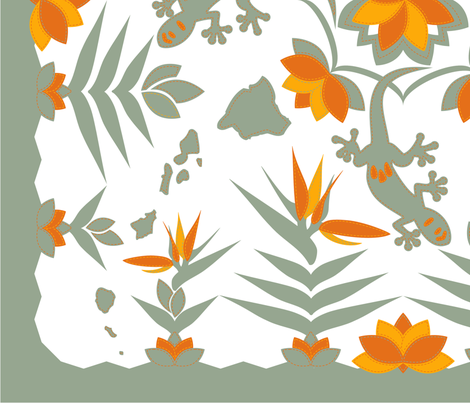 Little Gecko In Paradise fabric by annosch on Spoonflower - custom fabric