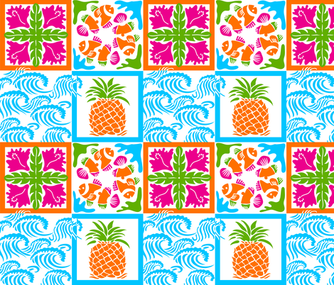Mod Hawaiian Quilt fabric by dianne_annelli on Spoonflower - custom fabric