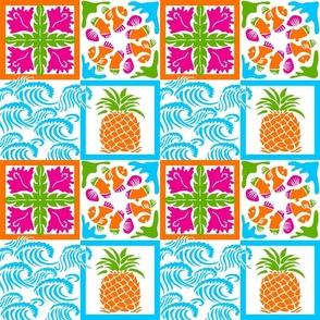Mod Hawaiian Quilt