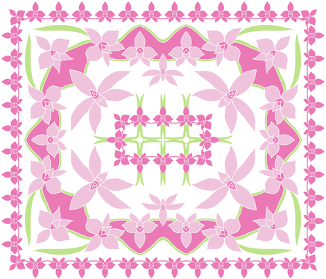 Cooktown Orchid 4 colour quilt. fabric by rhondadesigns on Spoonflower - custom fabric