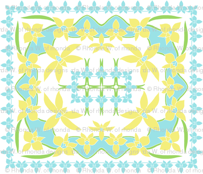 Tropical Orchid 4 colour quilt