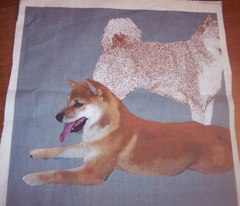 Shiba Inu fabric