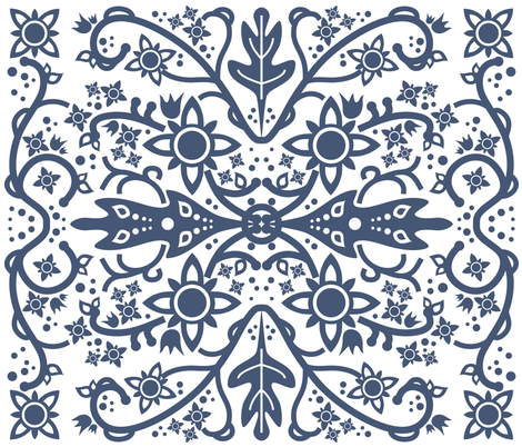 Hawaiian quilt (cheater) fabric by catru on Spoonflower - custom fabric
