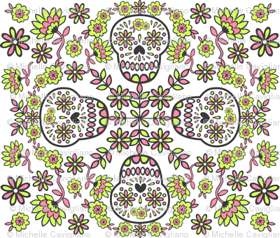 A Flowery Sugar Skull