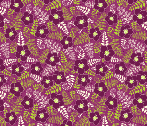 Shade Garden fabric by jennartdesigns on Spoonflower - custom fabric