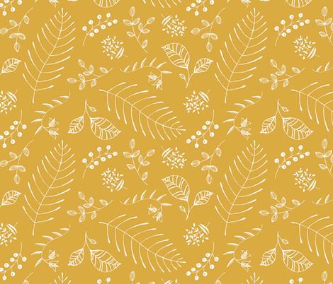 Botanika - custom color Mustard fabric by pattysloniger on Spoonflower - custom fabric