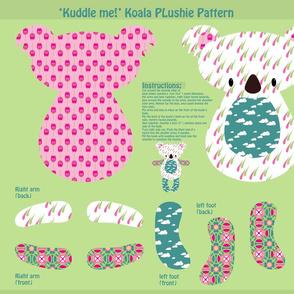 """Kuddle me!"" Koala Plushie Pattern"