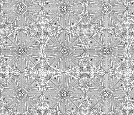 ©2011 It's all there in black and white fabric by glimmericks on Spoonflower - custom fabric