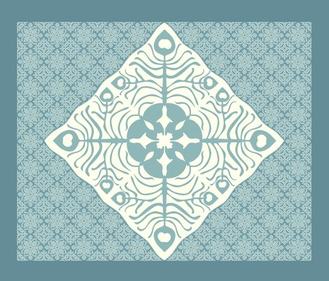 Rrpeacock_feather_butterfly_hawaiian_quilt3_marine-blue_aqua-revise-cream_shop_preview