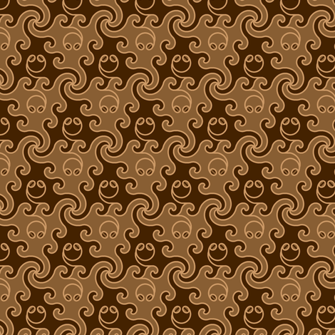 coffee-bean nonapod fabric by sef on Spoonflower - custom fabric
