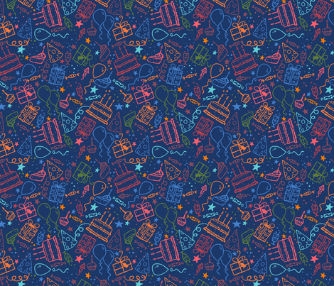 Birthday Party fabric by oksancia on Spoonflower - custom fabric