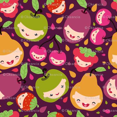 Happy Fruit Children