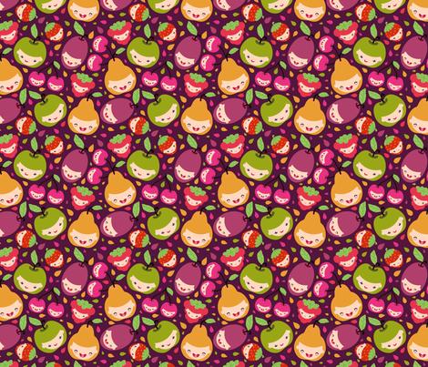 Happy Fruit Children fabric by oksancia on Spoonflower - custom fabric